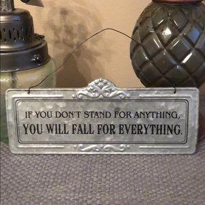 Tin Vintage Style Saying Sign Farmhouse Shabby